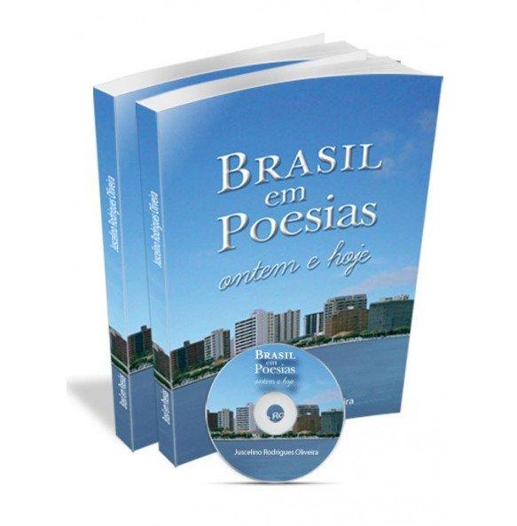 KIT1 2 unid. Brasil em Poesias: Ontem e hoje GRÁTIS CD Cantando o Brasil